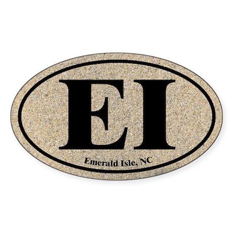Emerald Isle EI Euro Oval Oval Sticker