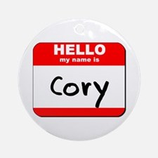 Hello my name is Cory Ornament (Round)