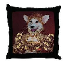 Welsh Corgi ELIZABETH I Throw Pillow