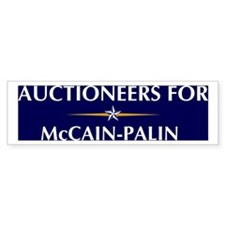 AUCTIONEERS for McCain-Palin Bumper Bumper Sticker