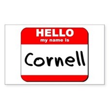 Hello my name is Cornell Rectangle Decal