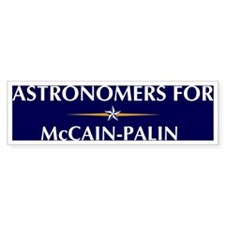 ASTRONOMERS for McCain-Palin Bumper Bumper Sticker