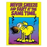 Never Sneeze and Fart Small Poster