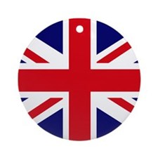 British Flag Union Jack Ornament (Round)