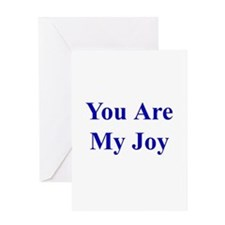 You Are My Joy blue Greeting Card