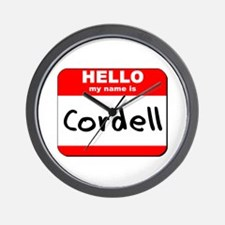 Hello my name is Cordell Wall Clock