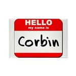 Hello my name is Corbin Rectangle Magnet