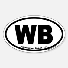 Wilmington Beach WB Euro Oval Decal