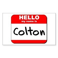 Hello my name is Colton Rectangle Decal