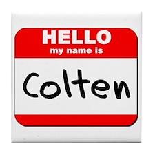 Hello my name is Colten Tile Coaster