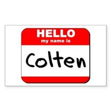 Hello my name is Colten Rectangle Decal
