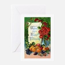 Vintage Happy Thanksgiving Greetings Greeting Card