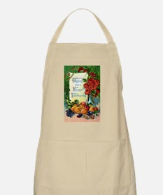 Vintage Happy Thanksgiving Greetings BBQ Apron