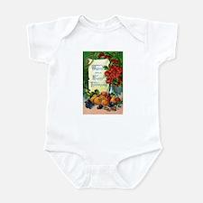 Vintage Happy Thanksgiving Greetings Infant Bodysu
