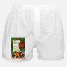 Vintage Happy Thanksgiving Greetings Boxer Shorts