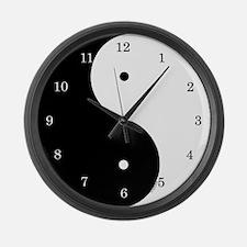 Ying / Yang Large Wall Clock