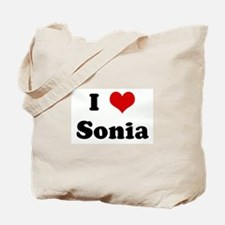 I Love Sonia Tote Bag