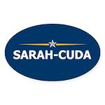 Sarah-Cuda / Sarah Palin 08 Oval Sticker (10 pk)