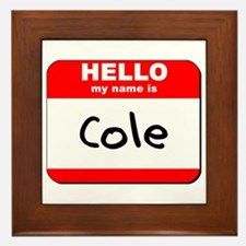 Hello my name is Cole Framed Tile