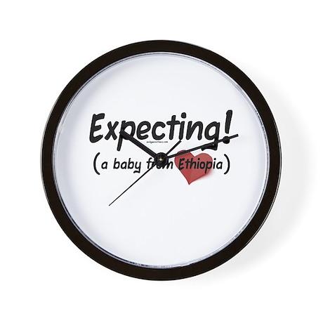 Expecting! Ethiopia adoption Wall Clock