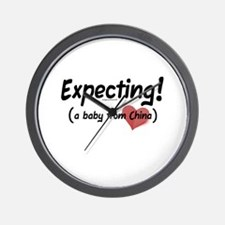 Expecting! China adoption Wall Clock