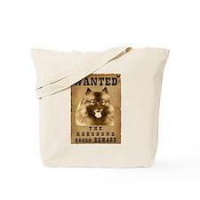 """Wanted"" Keeshond Tote Bag"