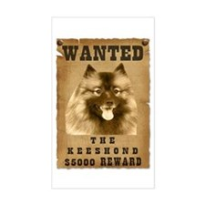 """Wanted"" Keeshond Rectangle Decal"