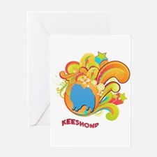 Groovy Keeshond Greeting Card