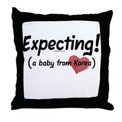Expecting! Korea adoption Throw Pillow