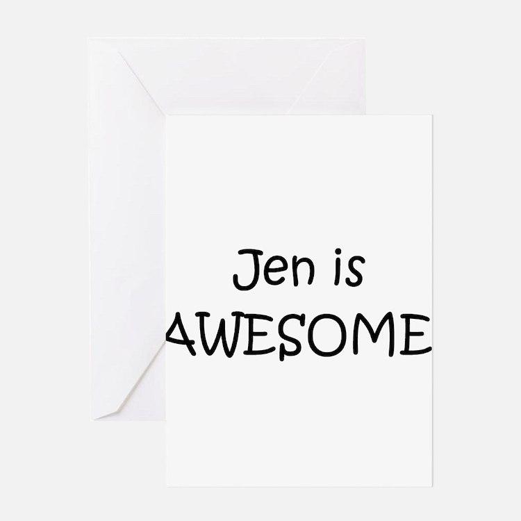 Cute Jen Greeting Card