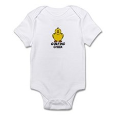 Golfing Chick Infant Bodysuit
