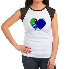 sweet heart design Women's Cap Sleeve T-Shirt