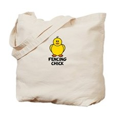 Fencing Chick Tote Bag