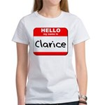 Hello my name is Clarice Women's T-Shirt