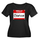 Hello my name is Clarice Women's Plus Size Scoop N