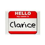 Hello my name is Clarice Rectangle Magnet