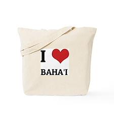 I Love Baha'i Tote Bag