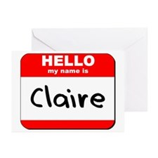 Hello my name is Claire Greeting Cards (Pk of 10)
