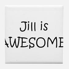 Cute I love jill Tile Coaster