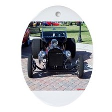 BLACK HOT ROD Oval Ornament