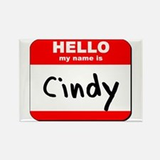 Hello my name is Cindy Rectangle Magnet