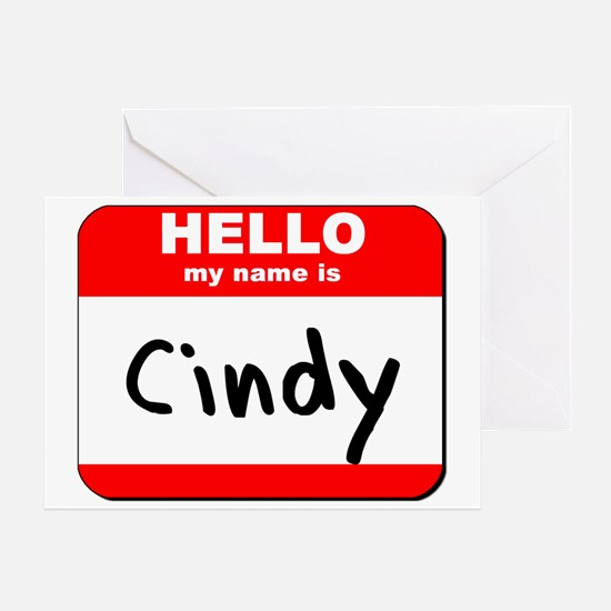 Hello my name is Cindy Greeting Card