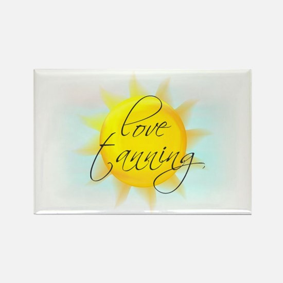 LOVE TANNING Rectangle Magnet