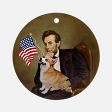 Lincoln and his Welsh Corgi Keepsake (Round)