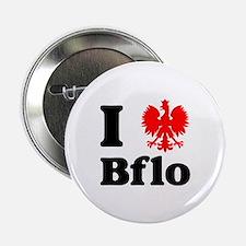 """I Polish Eagle Bflo 2.25"""" Button"""