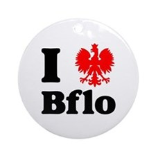 I Polish Eagle Bflo Ornament (Round)