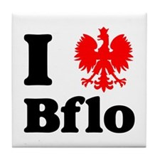 I Polish Eagle Bflo Tile Coaster