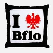 I Polish Eagle Bflo Throw Pillow