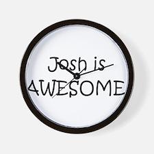 Cute I love josh hutcherson Wall Clock