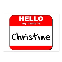 Hello my name is Christine Postcards (Package of 8